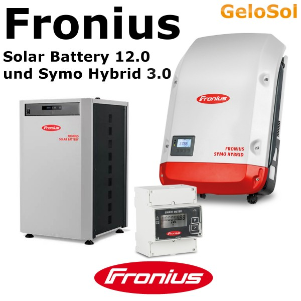 set fronius solar battery 12 0 symo hybrid gelosol. Black Bedroom Furniture Sets. Home Design Ideas