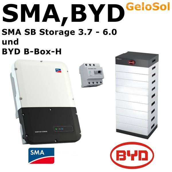 Set BYD B-Box-H 10,2 (10,24 kWh) + SMA SB Storage 3,7 - 6,0
