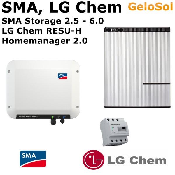 Set LG Chem RESU 7 H + SMA SB Storage 2.5 - 6.0